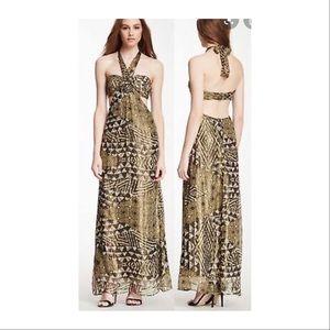 BCBG formal gold dress